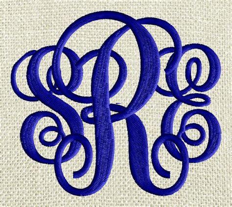scripty monogram font embroidery file  letters  sizes   stitchelf