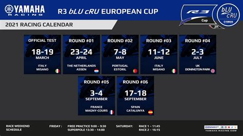 De 22e coupe d'europe de montgolfieres en de 27e women's world cup vinden plaats van donderdag 29 juli tot zondag 1 augustus 2021. Calendrier de la Coupe d'Europe Yamaha R3 bLU cRU 2021 - Paddock GP