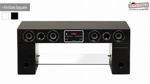 Meuble tv home cinema integre watts ii bluetooth youtube for Meuble tv home cinema integre watts