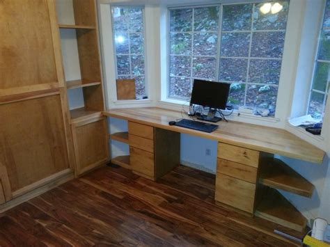 pine shop murphy bed  window desk bay
