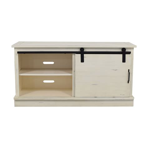 Buy White Shelves by 61 Distressed White Credenza With Three Drawers And