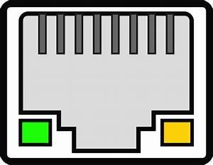 Vector Illustration Of Female Rj 45 Ethernet Port