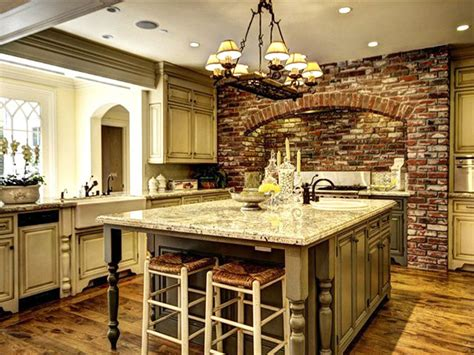 kitchen island brick 47 brick kitchen design ideas tile backsplash accent 1849