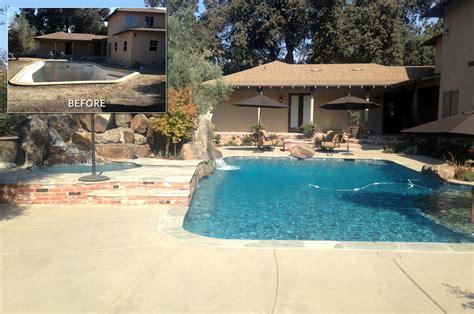 hanford pool remodel   paradise pools