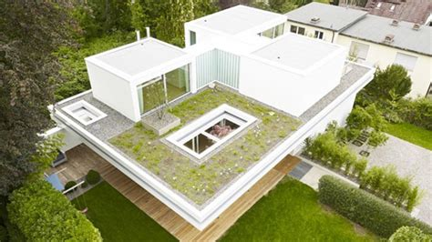 distinct  simple rooftop garden  house  home design lover