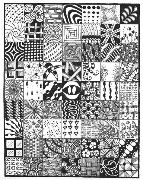 sampler   doodle zentangle zentangle patterns