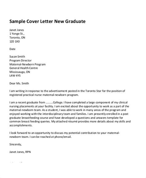 cover letter graduate job sample cover letter examples