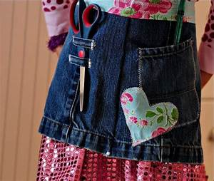 Sew a Denim Apron from Repurposed Jeans and Scrap Fabric