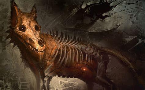 Animal Skeleton Wallpaper - ribs creepy digital skeleton bones skull animals