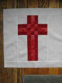 Christian Cross Quilt Block Pattern