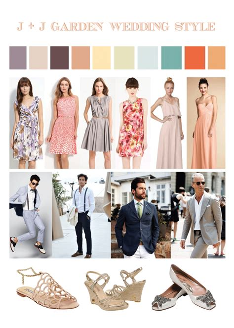garden wedding guests attire style  spring wedding