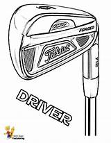 Golf Coloring Driver Pages Titleist Clubs Yescoloring Print Sports Smooth Club Pga Gusto Player Green sketch template