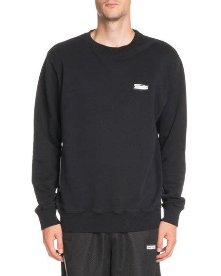 white basic crewneck long sleeve sweatshirt neiman