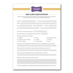 New Client Information Form Template