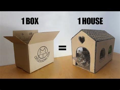 25+ Beste Ideeën Over Cardboard Cat House Op Pinterest