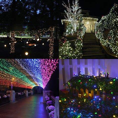 outdoor multi color 100 led string light