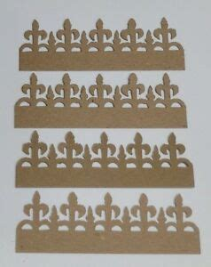 sizzix tim holtz iron gate die cut raw white self adhesive chipboard 4 pcs ebay
