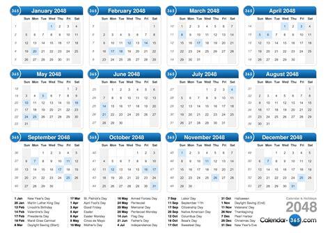 2048 Calendar