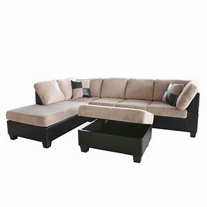 venetian worldwide taylo left sectional sofa and ottoman With sectional sofa home depot