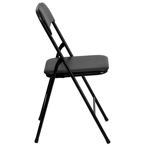 5 black folding card table and chair set