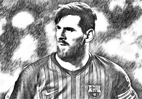 Kleurplaat Messi Ronaldo by Kleurplaat Uefa Chions League 2019 Lionel Messi 2019 1