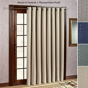 Grand pointe room darkening thermal grommet patio panel for Patio door curtain
