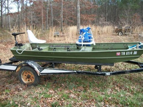 12 Foot Jon Boat Speed by 12 Foot Jon Boat And Trailer With Trolling Motor For Sale