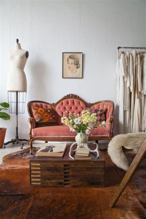 Living Room Inspo Velvet Couches  Boat People Vintage