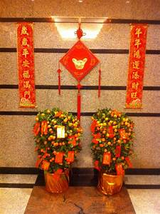 File:HK Mid-levels Chinese New Year decoration plants Jan