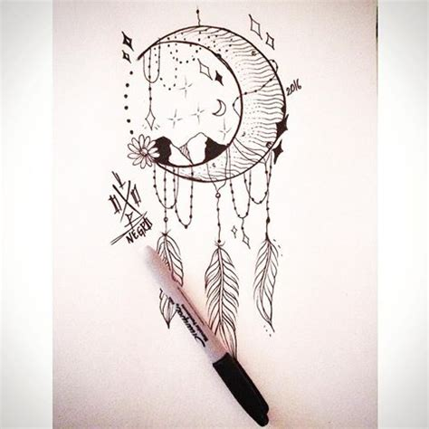 moon dreamcatcher drawing  getdrawingscom   personal  moon dreamcatcher drawing