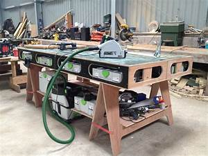 The Paulk Workbench Those Festool Boxes fit nicely! #