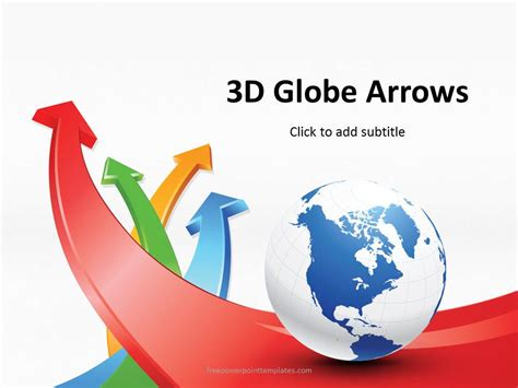 globe arrows powerpoint template