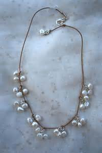 Freshwater Pearls On Leather Necklace