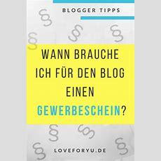 Wann Als Blogger Bzw Instagramer Gewerbe Anmelden