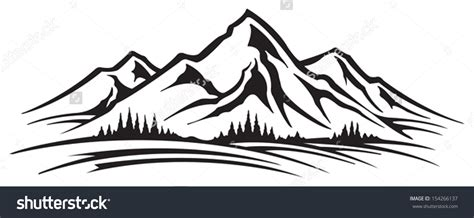 mountain clipart mountain and trees clipart collection