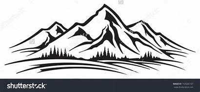 Mountain Clipart Range Vector Clip Ranges Shutterstock