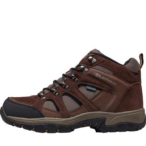 buy karrimor mens bodmin mid 4 weathertite hiking boots brown brown