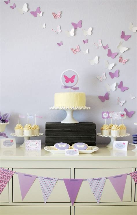 karas party ideas butterfly themed birthday party