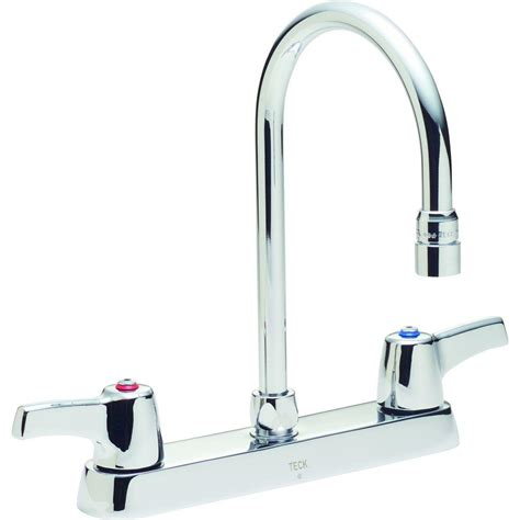 delta commercial 2 handle standard kitchen faucet with