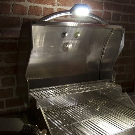 Led Grill Light With Cover  Black  Bbq Guys