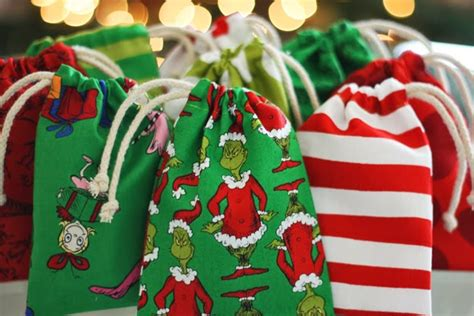 corners crafts drawstring gift bags