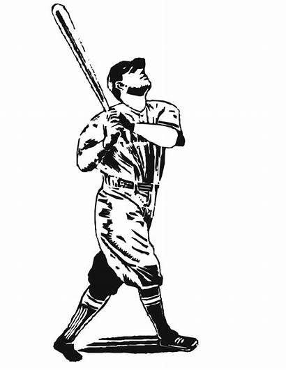 Baseball Coloring Bat Pages Batter Player Realistic