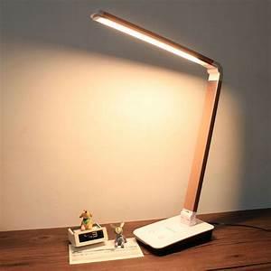 Led Lampe : 4 level touch dimmer led desk lamps folding table led lamba portable office night reading ~ Eleganceandgraceweddings.com Haus und Dekorationen