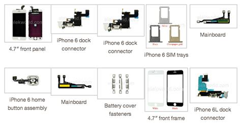iphone 6 parts new photos of iphone 6 true tone flash other parts mactrast