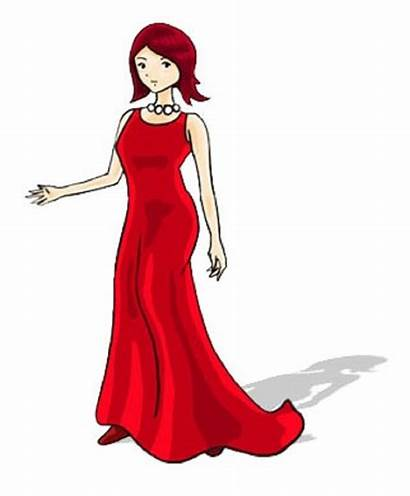 Clip Clipart Woman Lady Standing Pretty Cliparts