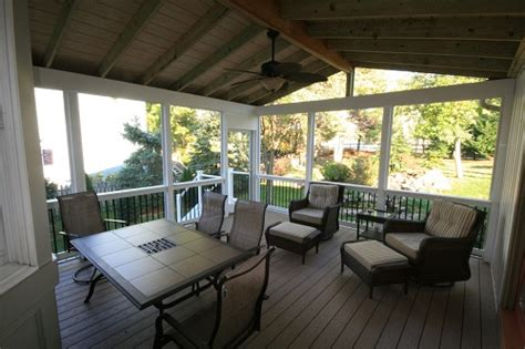 turn a deck into screened porch ellicott city deck