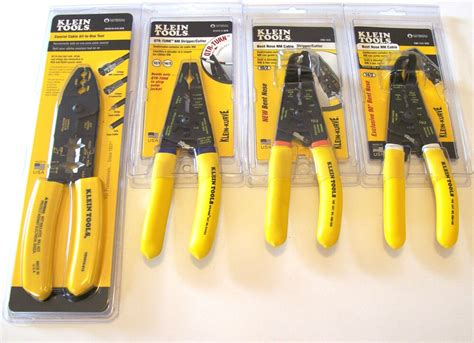 4pc Klein Tools Romex Nm Cable Wire Stripper Cutter Plier