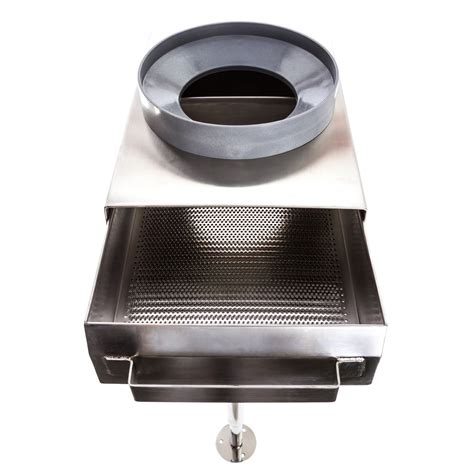 the drain strainer with crown adapter from above drawer out