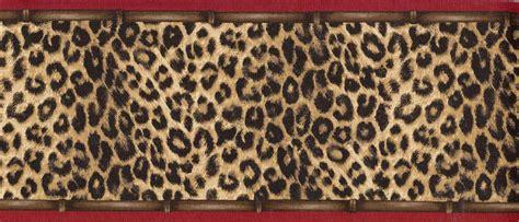 Wallpaper Border Animal Print - wallpaper border leopard animal print with trim ebay