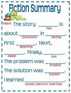 Anchor Chart Easel Fiction Summary Template Anchor Chart For Grades 3 6 By